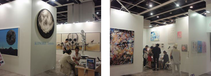 Mizuma Art Gallery (left, booth#K09) and Tomio Koyama Gallery (right, booth#H07)