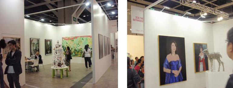 ShugoArts (left, booth#A01) and SCAI THE BATHHOUSE (right, booth#D03)