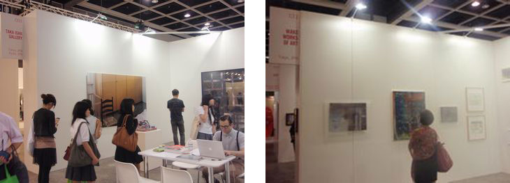 Taka Ishii Gallery (left, booth#C03) and WAKO WORKS OF ART (right, booth#C11)
