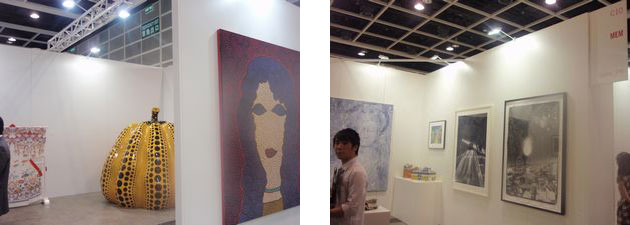 Ota Fine Arts (left, booth#B10) and MEM (right, booth#C10)