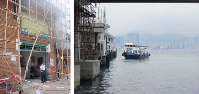 "Cattle Depot Artist Village's Entrance (left) Ferry from North Point to Kowloon City Ferry Pier (right) 5 min walk from the Kowloon City Ferry Pier, there is an alternative space called ""Cattle Depot Artist Village."" 1a space, Artist Commune, Videotage are the organization in this place. Although the Cattle Depot will open at 10am, strongly recommended to visit after 2pm since Videotage opens at that time."
