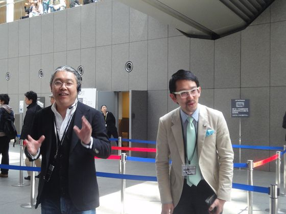 Mr. Miyatsu and Mr. Kaneshima, Exsecutive director of Art Fair Tokyo