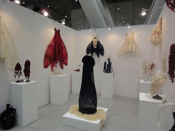 Clothe brand Somarta was showing beautiful dresses like blam crickets.
