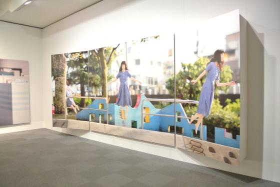 "Exhibition view of ""Today's Levitation: Ebisu Minami 2 Park, 2013"" by Natsumi Hayashi"
