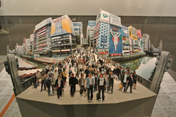 "Exhibition view of ""Ebisubashi, Osaka, 2003"" by Kimio Itozaki"