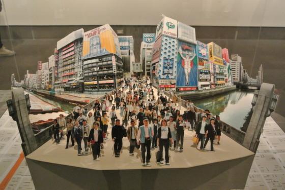 """Exhibition view of """"Ebisubashi, Osaka, 2003"""" by Kimio Itozaki"""