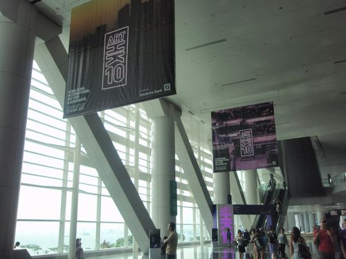 Entrance of ART HK10 in the Hong Kong Convention and Exhibition Center