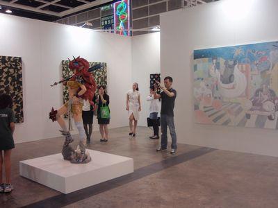 Takashi Murakami, Takano Aya, were shown at Emanuel Perottin Gallery's booth