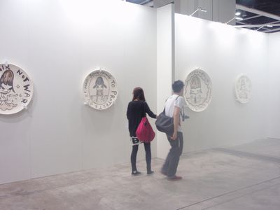 Artworks by Yoshitomo Nara at Marianne Boesky Gallery's booth, ART HK10