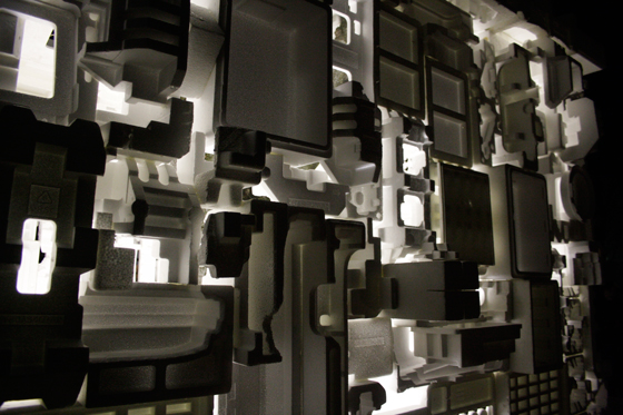 "[detail] ""Happo-en"", complicated combination of styrofoam"