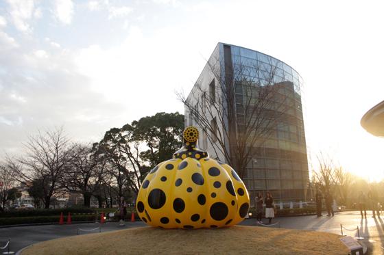 """Yayoi Kusama """"PUMPKIN"""" 2012, at the National Art Center, Tokyo?"""