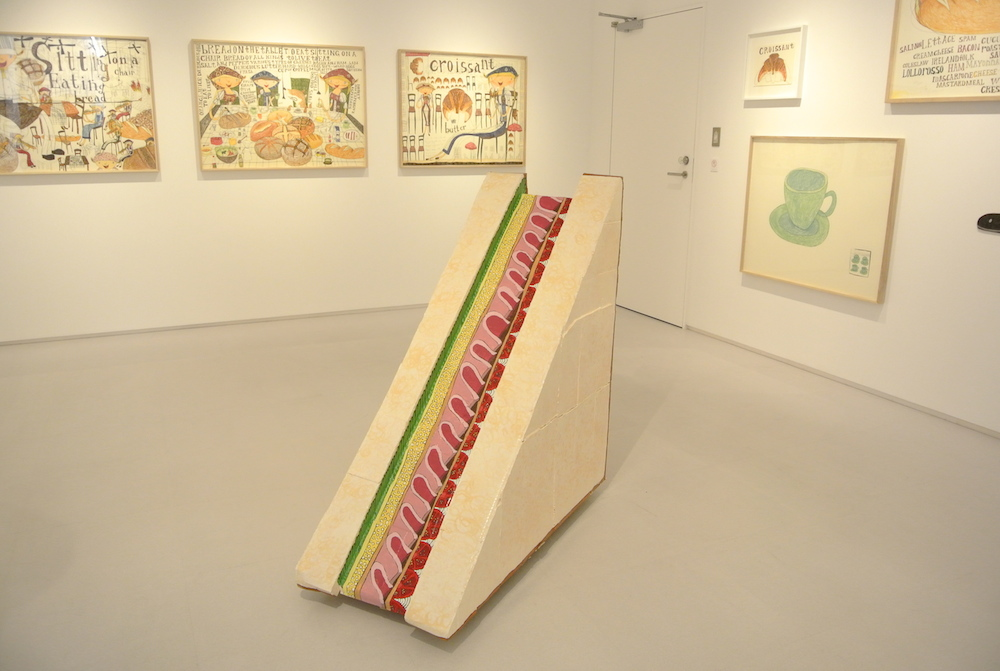 "Exhibition view of ""Sitting on a Chair, Eating Bread"" at 8/ ART GALLERY Tomio Koyama Gallery, Shibuya Hikarie."