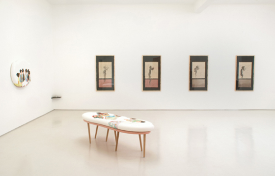 "installation view of ""hana wa no ni aruyouni"" at Robert & Tilton gallery"