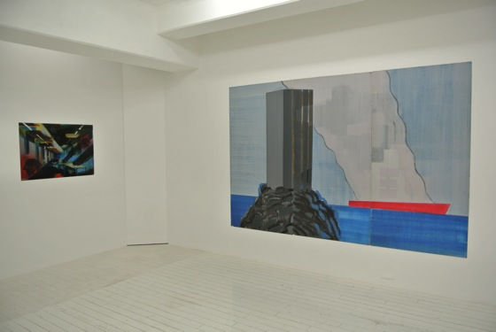 "Installation view of Yuichi Yokoyama ""Room and World map"" 2014 at Arataniurano."