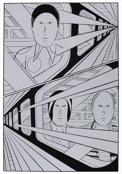 "Yokoyama started to visualize the scenes before and after this image to write his manga ""Travel""."