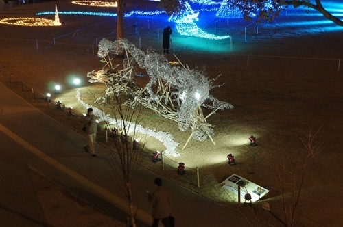 Dragon was placed at Nakano-shima Park, December 2011