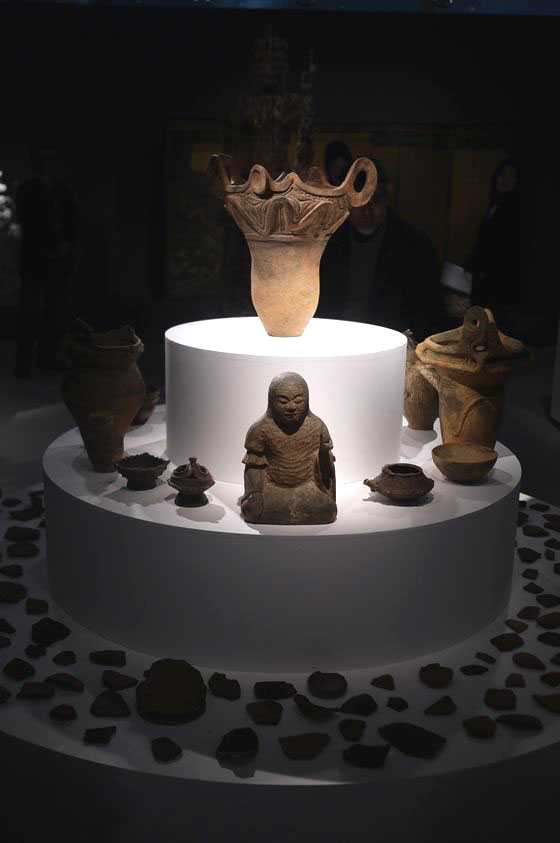 Works from the Jomon period which is about 14,000 BC to 300 BC.
