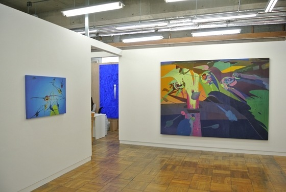 "Exhibition view of ""for the horizontal line"" by Ryuichiro Ando at Mori Yu Gallery"