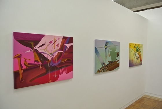 "Exhibition view of Ryuichiro Ando ""for the horizontal line"" at Mori Yu Gallery"