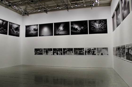 "Nobuyoshi Araki ""Eastern Sky 2014"" (above) and ""Ginza 2014"" (below) at Shiseido Gallery"