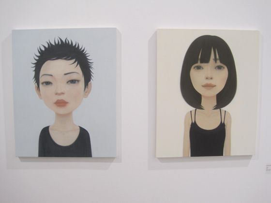 Hideaki Kawashima's 'reflesh' and 'calm', from left to right.