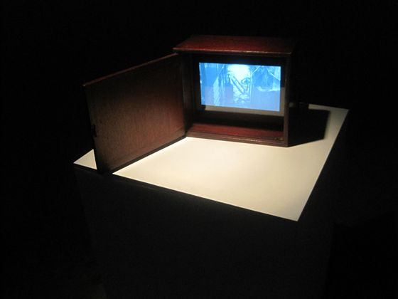 Tiny antique television. Artwork by Hiraki Sawa.