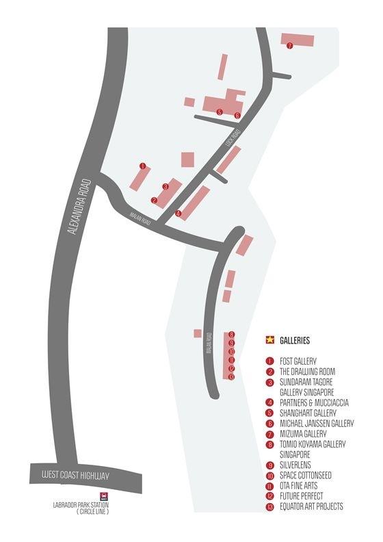 Map of Gillman Barracks