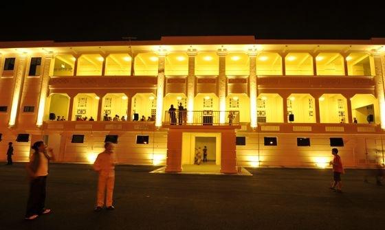 Gillman Barracks at night. (Photo credit: Singapore Economic Development Board)