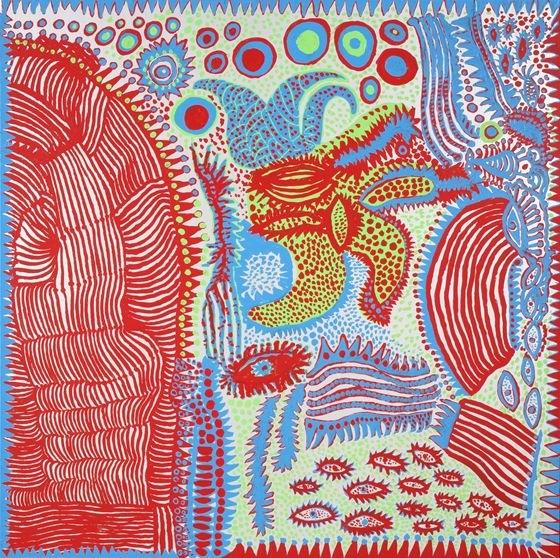 """Yayoi Kusama """"Waking Up in the Morning"""" 2012, acrylic on canvas, 162x162cm (Courtesy of Ota Fine Arts)"""