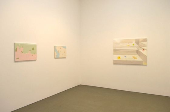 "Left to right: ""After That"" by Masahiko Kuwahara, ""New Town"" by Masahiko Kuwahara, ""Candy Box"" by Masahiko Kuwahara (Courtesy of Tomio Koyama Gallery)"