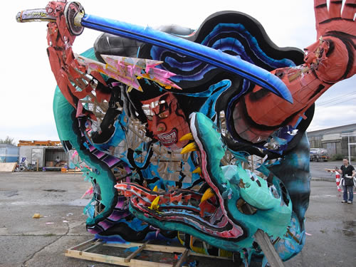 A Nebuta (large lattern float) which Fuji got after the festival (image from Hiroshi Fuji's Blog)