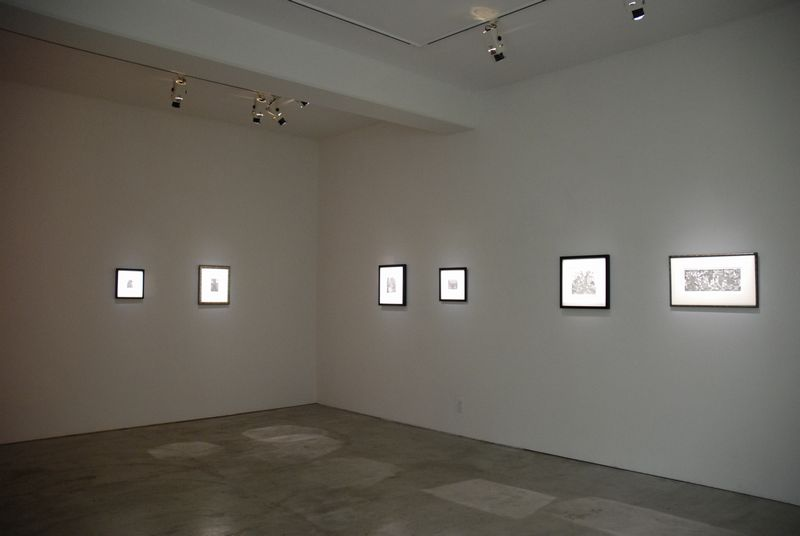 Exhibition view of 'wind erosion'