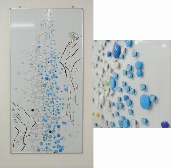 "Tomoko Fukushi ""waterfall"". This waterfall is made of magnets."