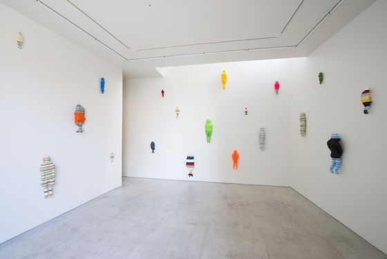 """Installation view of """"People in a Skit"""" at MA2 gallery. Photo by Ken Kato"""