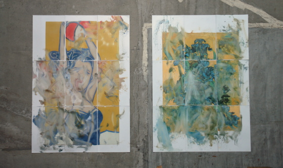 """Ghost of Modern Art (Lichtenstein)"" and ""Ghost of Modern Art (Van Gogh)"" [right] by Kazuhito Tanaka"