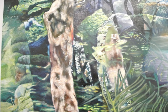 "Detail of Kei Imazu ""Puzzle (The Luncheon on the Grass )"""