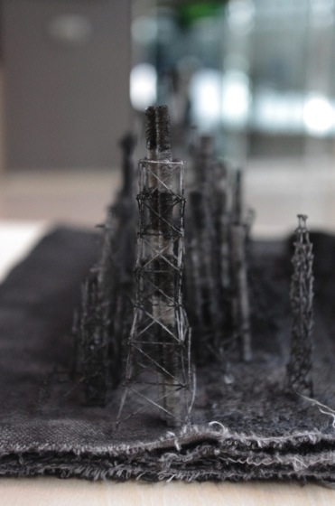 "Detailed view of ""Out of Disorder (Toa Oil Company's Refinery 2)"" by Takahiro Iwasaki, 2014"