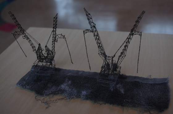 """Out of Disorder (Nisshin Seifun's gantry cranes)"" by Takahiro Iwasaki, 2014"