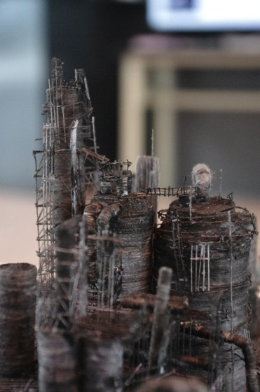 "Detailed view of ""Out of Disorder (Toa Oil Company's Refinery 1)"" by Takahiro Iwasaki, 2014"