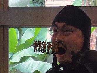 """exhibition view of """"Kenji Yanobe: Sun Child, Taro's Children"""""""