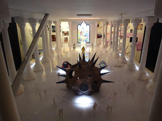 "concept model of ""Sun Child Island"", at exhibition ""Kenji Yanobe: Sun Child, Taro's Children"""