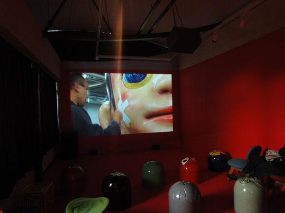 """documentary film """"Sun Child, Child of Taro"""", exhibition view of """"Kenji Yanobe: Sun Child, Taro's Children"""""""