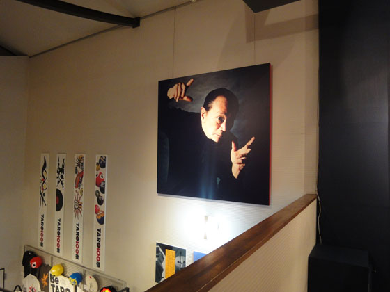 """Portrait of Taro Okamoto, at exhibition """"Kenji Yanobe: Sun Child, Taro's Children"""""""