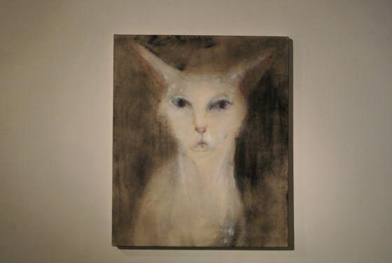 Painting by Akiko Kinugawa at Art Center Ongoing