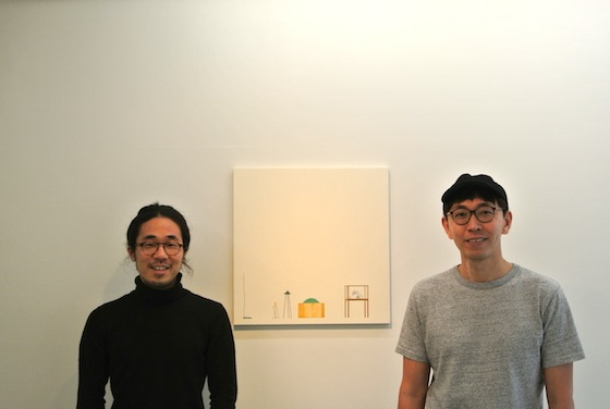 Keisuke Kondo (left: traditional Japanese painter) and Masanao Hirayama (right: drawing artist)