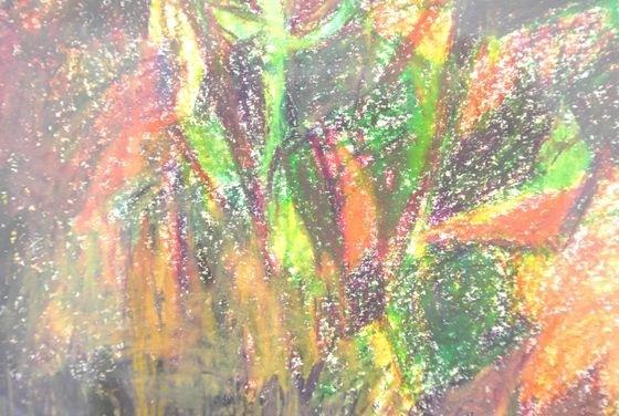 """Detail of """"Zawa zawa"""""""