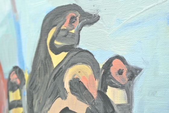 "Detail of ""Penguins"""