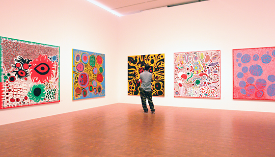 "Exhibition view of ""My Eternal Soul"" series in Yayoi Kusama ""Eternity of Eternal Eternity"""
