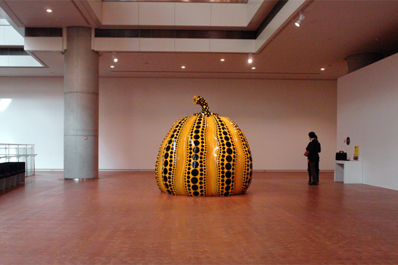 """GREAT GIGANTIC PUMPKIN"" by Yayoi Kusama, 2011"