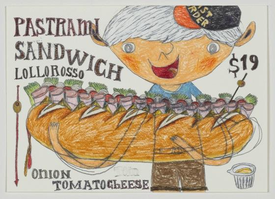 """Pastrami Sandwich"" by Shintaro Miyake, 2013 (photo: Tomio Koyama Gallery)"